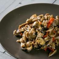 Индейка с грибами Фото