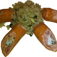 Сливочный лосось с рисом Фото