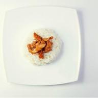 Рис с филе цыпленка в соусе Фото