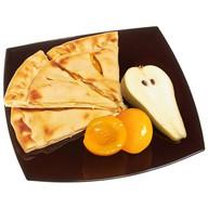 Пирог с персиками и грушей Фото