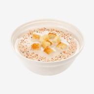 Сырный суп с сухариками Фото