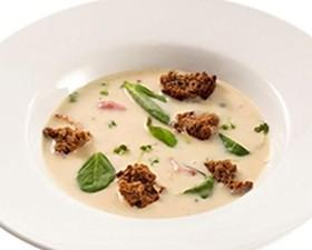 Картофельный суп-крем с беконом - Фото