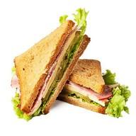 Сэндвич с ветчиной и сыром standart Фото