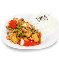 Свинина с тофу и овощами Фото