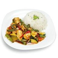 Рис и курица в остро-сладком соусе Фото