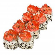 Запеченный ролл с грибами шитаки Фото