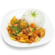Рис и курица в кисло-сладком соусе Фото