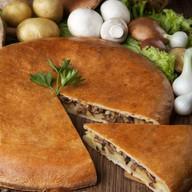 Пирог с грибами и картофельным пюре Фото