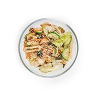 Салат в азиатском стиле с филе кальмара Фото