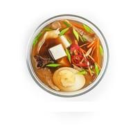 Кисло-острый суп с курицей и яйцом Фото