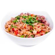 Жареный рис (тяхан) с морепродуктами Фото