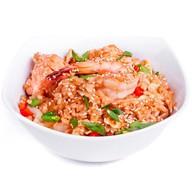 Жареный рис (тяхан) с креветками Фото