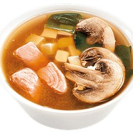 Мисо суп с лососем и шампиньонами Фото