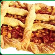 Пирог из слоеного теста с яблоками Фото