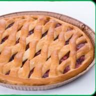 Пирог с клюквой, курагой и яблоком Фото