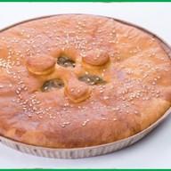 Пирог с курицей и баклажанами Фото