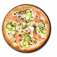 Курица грибы пицца Фото