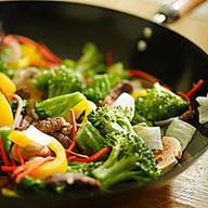 Сковородка с овощами Фото