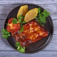 Pork sticky ribs Фото