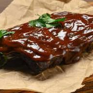 Ребрышки смокерные в соусе BBQ Фото