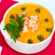 Тыквенный суп-пюре с креветками Фото