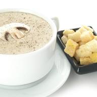 Крем-суп из шампиньонов с тар-таром Фото