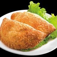 Кальцоне рыбный, сырный Фото