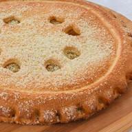 Пирог с заварным кремом и кокосом Фото