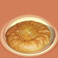 Пирог мясо сыр Фото