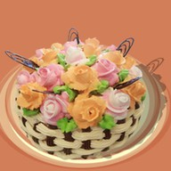 Цветочная корзина Фото