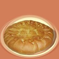 Пирог курица с сыром и грибами Фото