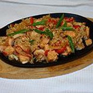 Теппаньяки рис с морепродуктами Фото