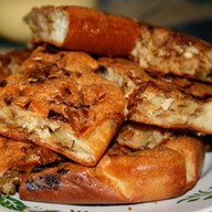 Пирог с ветчиной, грибами и сыром Фото
