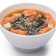 Мисо суп из семги Фото
