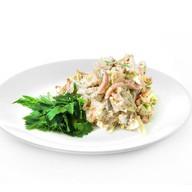 Грибной салат с ветчиной Фото