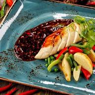 Курица Sous-Vide с овощным миксом Фото