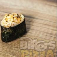 Суши запеченные с лососем Фото