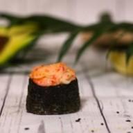 Запеченные суши с пастой кани Фото