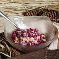 Брусника с кедровыми орешками, сгущенкой Фото