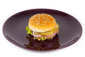 Чизбургер с мясом цыпленка - Фото