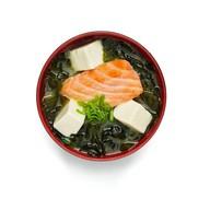 Суп мисо с лососем Фото