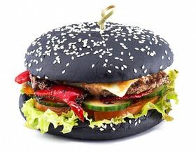 Черный бургер De luxe - Фото