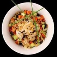 Чесночный рис с курицей Фото