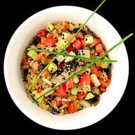 Чесночный рис с овощами Фото