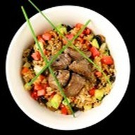 Чесночный рис с телятиной Фото