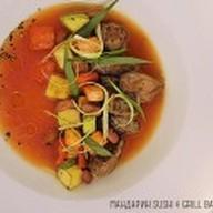 Томатный суп с телятиной и фасолью Фото