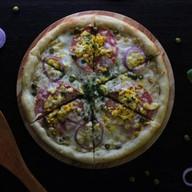 Оливье пицца Фото
