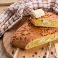 Пирог куриный с картофелем и сыром Фото