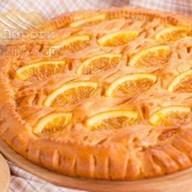 Пирог с апельсинами и манго Фото