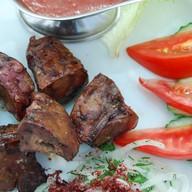 Печень говяжья на мангале Фото